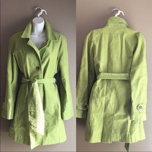 J Jill green corduroy ribbed coat. Med.